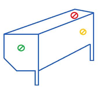 sortie de câble possible pour un coffre de volet roulant