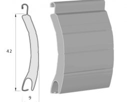 lames aluminium de la dimension 42 mm par 9 mm pour volet roulant rénovation ou neuf à prix fabricant sur volet direct usine