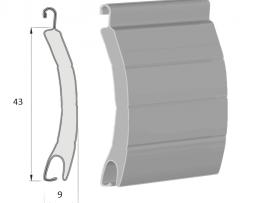 lames aluminium de la dimension 43 mm par 9 mm pour volet roulant rénovation ou neuf à prix fabricant sur volet direct usine