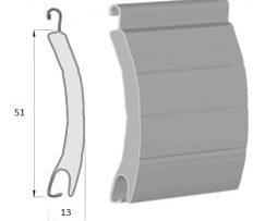 lames aluminium de la dimension 51 mm par 13 mm pour volet roulant rénovation ou neuf à prix fabricant sur volet direct usine