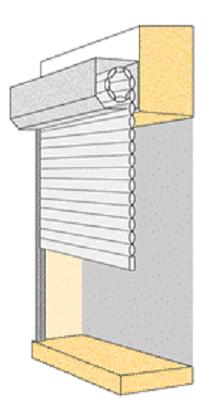 photo de mesure pour une pose en applique pour un volet roulant en rénovation - volet direct usine