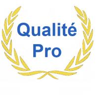 logo qualité pro sur la page d'accueil de volet direct usine